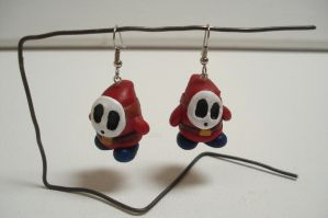 Shy Guy Earrings by ArtNinja101