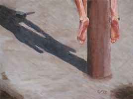 Crucified feet by Arisos