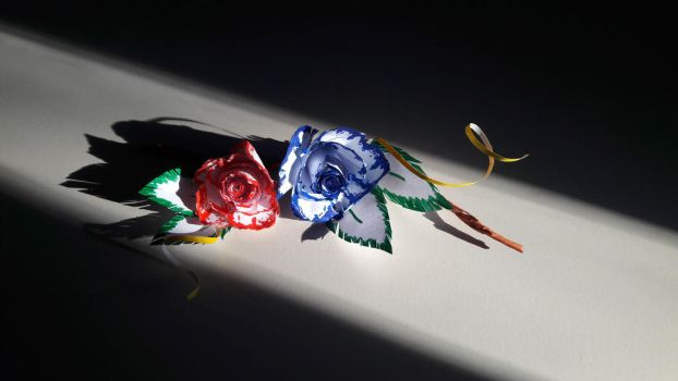 Paper Roses by QueenBlackDragonfly