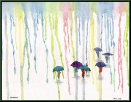 rain of colors by wholba
