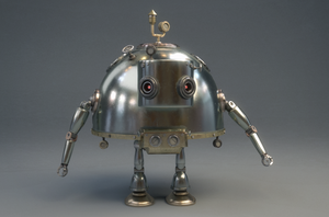 Steambot Robot Cinema 4D Maya Vray by botshow