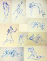 2 Minute Figure Drawings by Diana-Huang