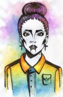 swag girl watercolor by Alexandra-Mad