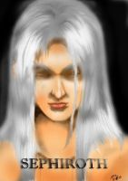 SEPHIROTH COLORED VERSION by WadeVesecha