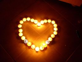 candle heart... by contesafantoma