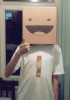 Cardboard box boy - head by cardboardboxboy