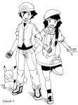 Ash and OC Lily by Rohanite