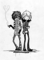 matt and mello by sprinklexeater