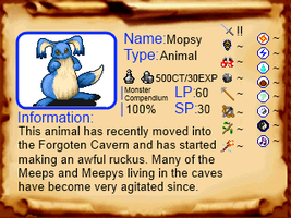 Monster Compendium 1: Mopsy by OneFourtySevenAM