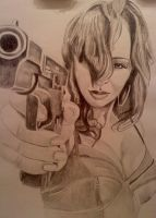Jane with a gun by dezz1977