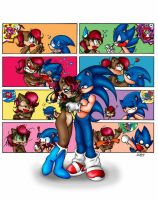 Sonic e Sally by cuteychao