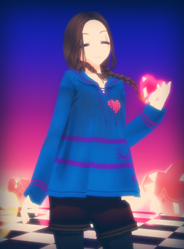 [MMD X Undertale] Frisk (DL) by amyolimpet