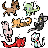 Candy Cats! OPEN by ButteryFoxWhiskers