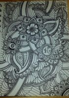 Henna Drawing - Combined 2 by spirit0407