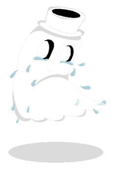 Napstablook: REALLY NOT FEELIN UP TO IT RIGHT NOW. by PastelCandyy
