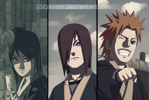 Konan, Yahiko and Nagato by 132Jester