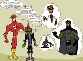 BeastBoy and theFlash by mattcrap