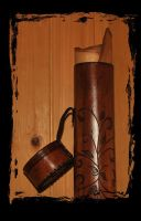 schroll leather tube by Lagueuse