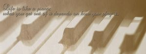 Life Is Like A Piano FaceBook Timeline Cover by TimelineAndWallpaper