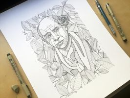 Pablo Picasso Ink Drawing by DonCarlosSalinas