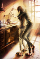 Cooking with Kakashi.. by Dakita
