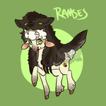 Ramses [red rip hatched] by LavvytheJackalope