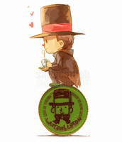 PL: Layton's Lipton by saltycatfish