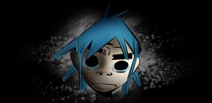 2-D from Gorillaz by Buxtheone
