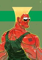 GUILE: Red and Blue by TheWoodenKing