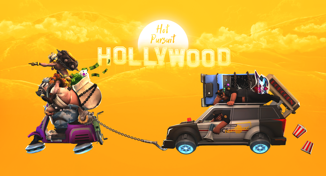 Overwatch: Hollywood Hot Pursuit by PaintIsPainful