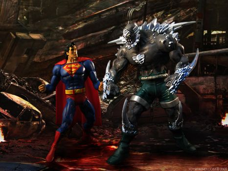 Superman VS Doomsday by toyrewind