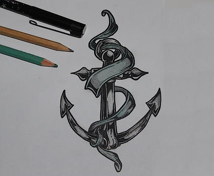 Anchor Tattoo Drawing by GummyBearOrgy