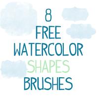 8 Watercolor Vintage Shapes Photoshop Brushes CS 7 by smyhls