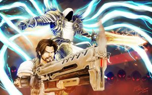 Tyrael and Jim Raynor by Fahad-Naeem