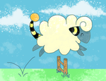 happy hoppy mareep by wolffey
