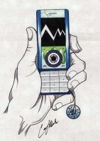Foot's Cell Phone by NarcissusTattoos