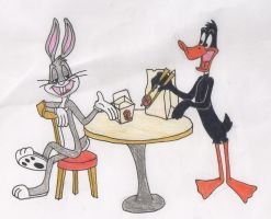 Bugs And Daffy by PaperFox74