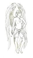 Winged woman by Yalshid