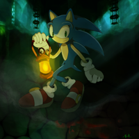 Sonic in Amnesia: The Dark Descent by koda-soda