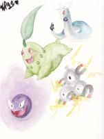 Some Pokemon by QueenKami