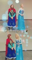 Uhmm...CHOCOLATE Elsa and Anna  Frozen cosplay by MissWeirdCat