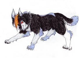 Arttrade - Spike the Wolf by Phantom--Wolf