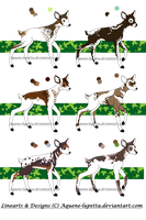 Piebald fawns adoptables :CLOSED: by Aquene-lupetta