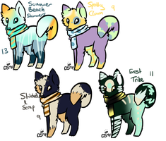 Doggies Love Scarves Adoptables Batch 7 by Luccient-Glitcher