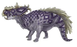 30 Day Dino - Pachyrhinosaurus by Art-Minion-Andrew0