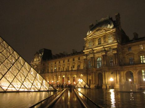 The Louvre at Night by poetintraining576