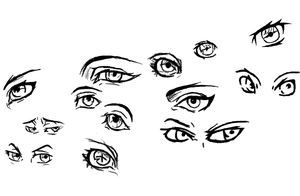 Practice of Eyes by Graceafur