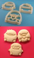 Kawaii Ducks Cookie Cutters by WarpzonePrints