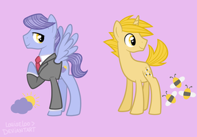 MLP OCs - Storm E. Days and Bumble Buzz by Looji