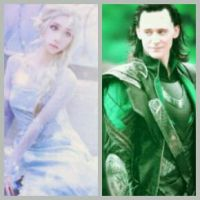 Elsa and Loki (The Snow Queen and The Ice Prince) by XiaoMeiKazamaSama